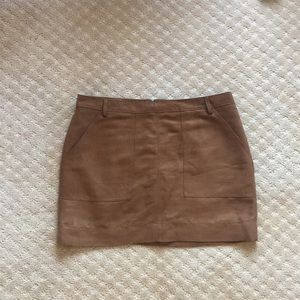 Hinge Skirt Faux Suede Skirt
